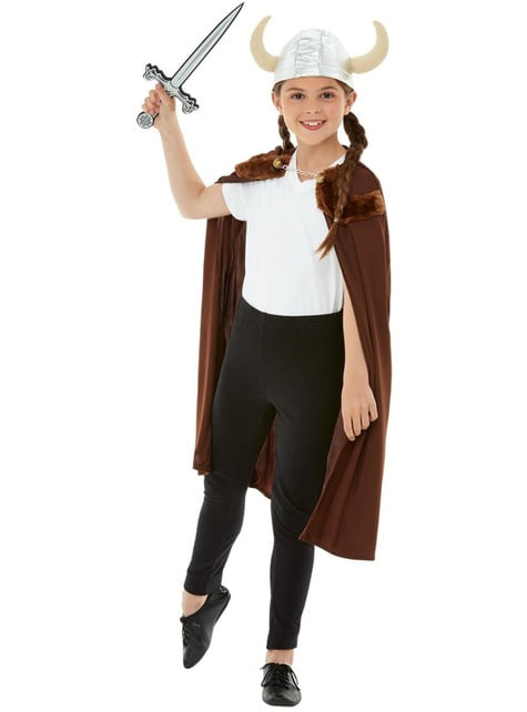 Disfraz de Vikingo marrón para niño - infantil