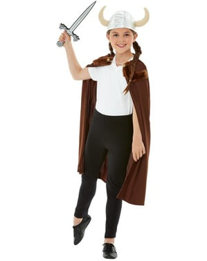 Viking kostume til drenge i brunt