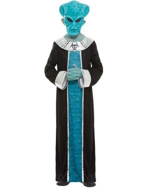 Alien kostuum voor jongens in het blauw
