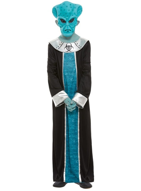 Alien kostuum voor jongens in het blauw - kinderen
