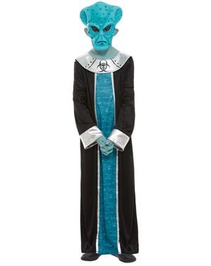 Alien Kostüm blau für Jungen