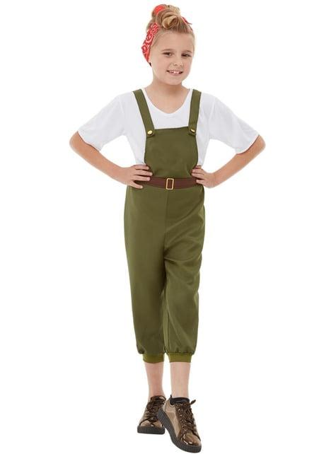 Disfraz de granjera para niña - niña