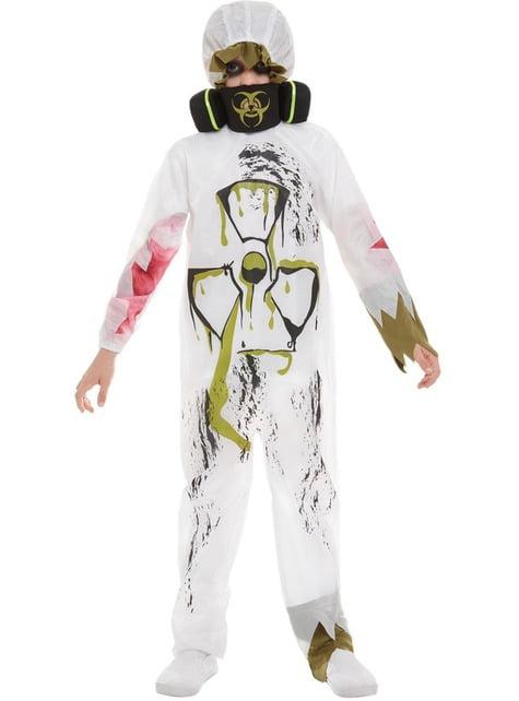 Disfraz de científico contaminado biológico para niño