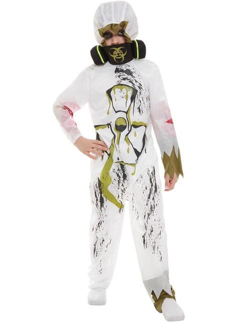 Disfraz de científico contaminado biológico para niño - infantil