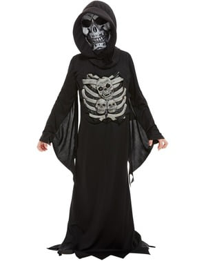 Disfraz de esqueleto tenebroso para niño
