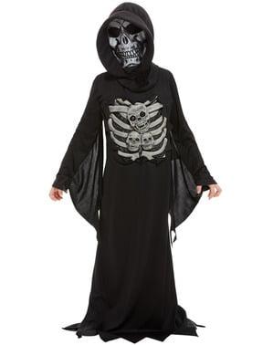 Skræmmende skelet kostume til børn