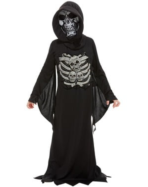 Skummelt Skjelett Kostyme til Barn