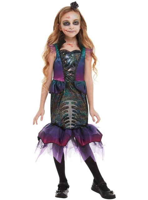 Kostium Syrena Zombie dla dziewczynek