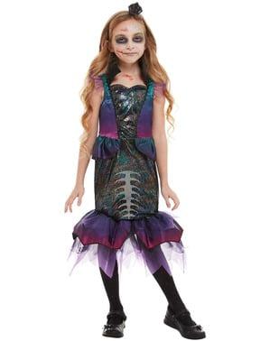 Disfraz de sirena zombie para niña