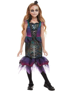 Zombie Mermaid Costume for Girls
