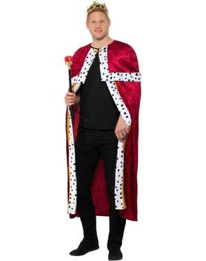 Costume da re rosso per uomo