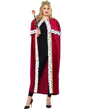 König Kostüm rot für Herren