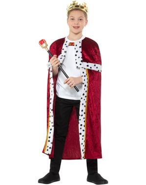 König Kostüm rot für Jungen