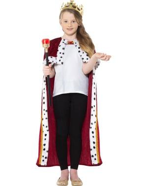 Costume da re rosso per bambino