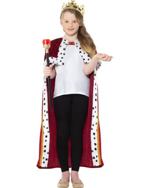 King Costume for Boys in Red