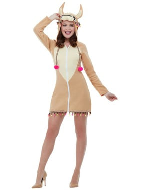 Lama kostuum voor vrouw
