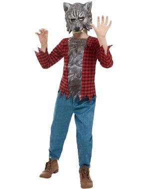 Kostium Wilkołak w szkockiej kracie dla chłopców