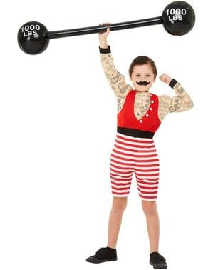 Disfarce de homem musculado para menino
