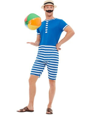 20s Swimsuit Costume for Men