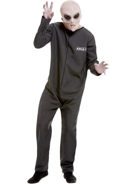 Disfraz Alien Área 51 para hombre