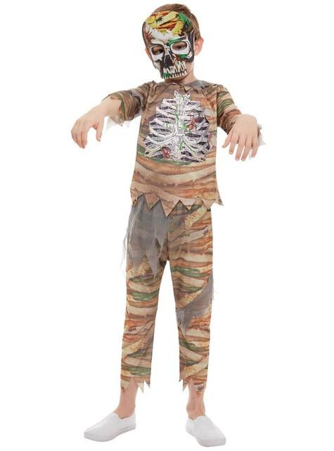 Disfraz de zombie momia para niño