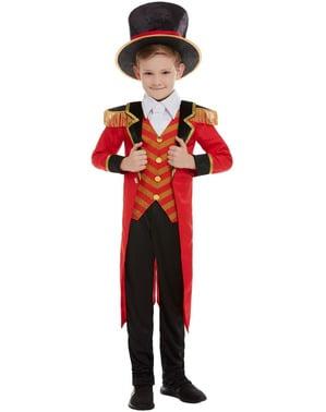 Circusdirecteur Deluxe kostuum voor jongens