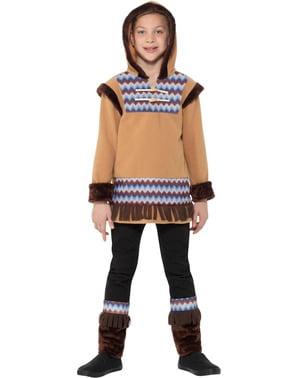 Costum de eschimos din Arctic pentru băiat