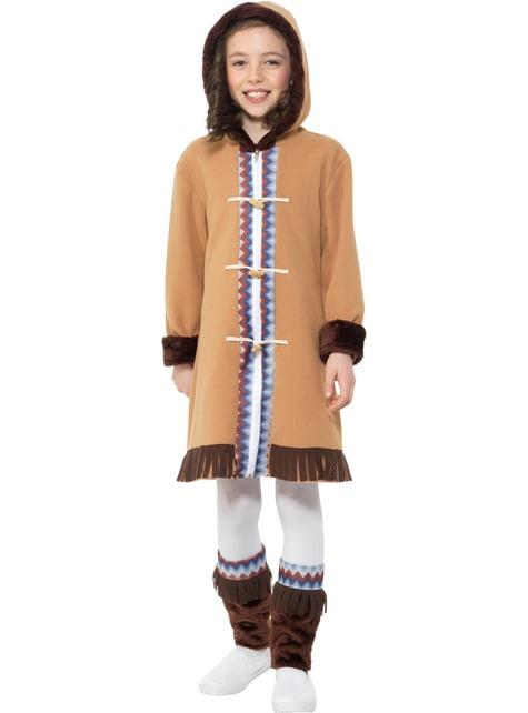 Arctic Eskimo Costume for Girls - girl
