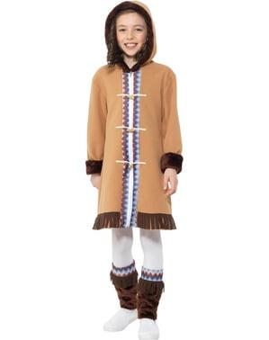 Costum de eschimos din Arctic pentru fată
