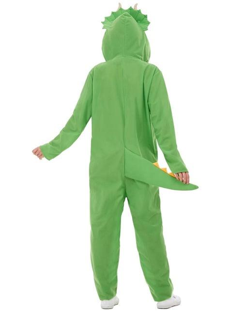 Disfraz de dinosaurio verde para adulto - original