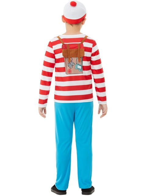 Where's Wally Deluxe Costume for Boys - kid