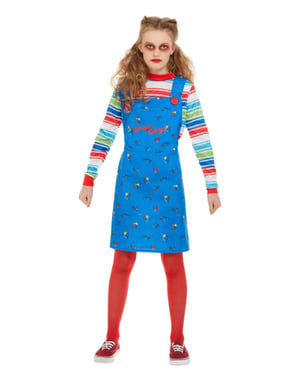 Chucky die Mörderpuppe Kostüm für Mädchen