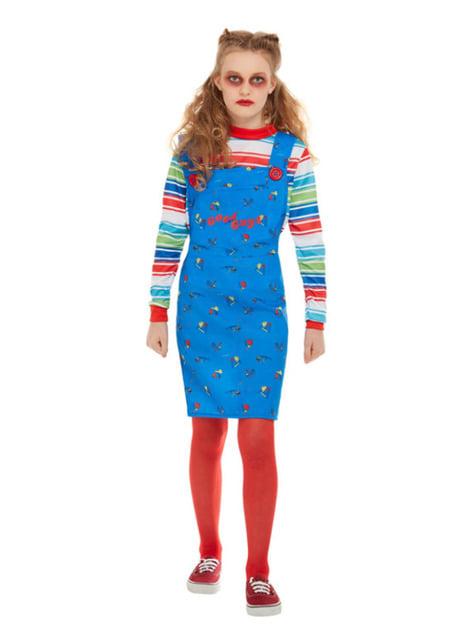 Chucky die Mörderpuppe Kostüm für Mädchen - mädchen