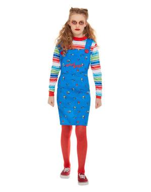 Costum Chucky, păpușa diabolică pentru fată