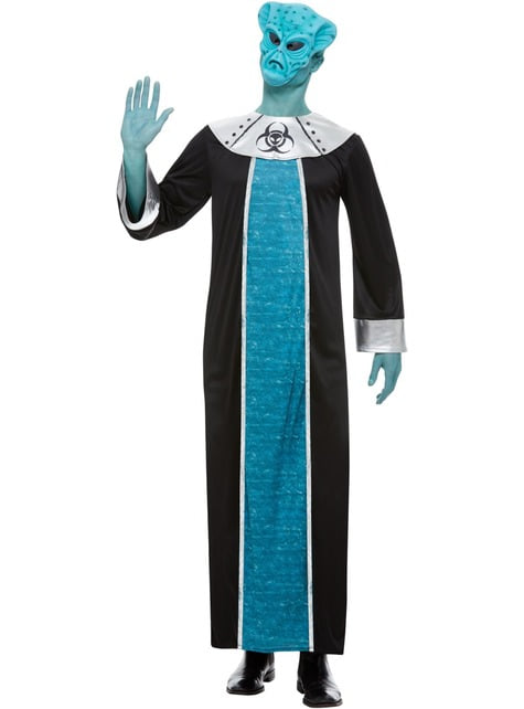 Alien Kostüm blau für Herren - herren