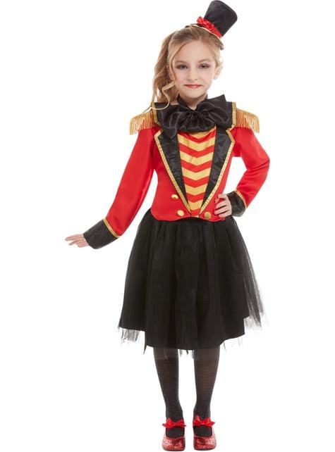 Deluxe Ringmaster Costume for Girls - girl