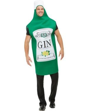 Disfraz de botella de Ginebra para hombre