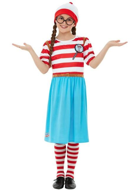 Disfraz de ¿Dónde está Wally? Wenda Deluxe para niña