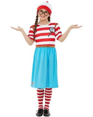 Where' s Wally Wenda Deluxe kostuum voor meisjes