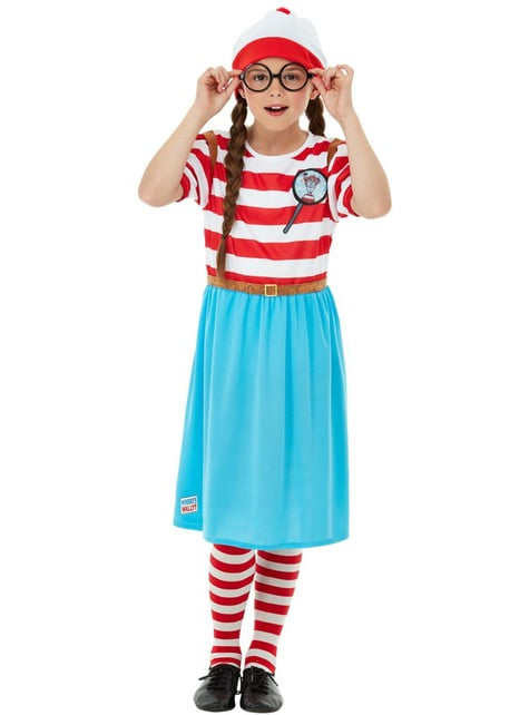 Disfraz de ¿Dónde está Wally? Wenda Deluxe para niña - niña