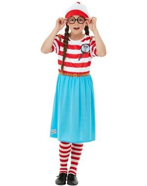 Fato de Onde está o Wally? Wenda Deluxe para menina