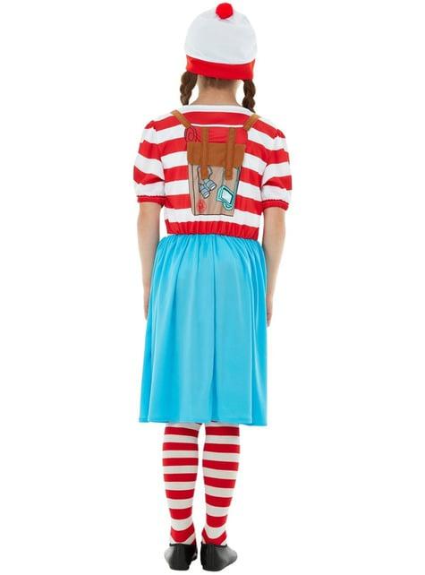 Disfraz de ¿Dónde está Wally? Wenda Deluxe para niña - original
