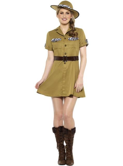 Disfraz de safari marrón para mujer