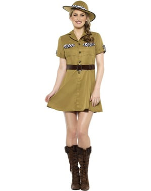 Costume da safari marrone per donna