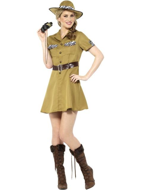 Disfraz de safari marrón para mujer - mujer