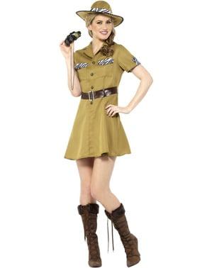 Safari kostume til kvinder i brunt