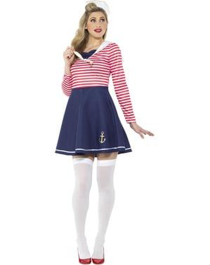 Kostým pro ženy námořnice modrý