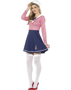 Sjømannskostyme til damer