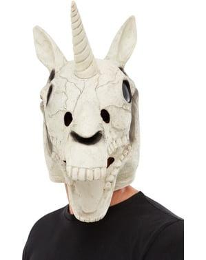 Enhjørning Kranie Latex maske til voksne