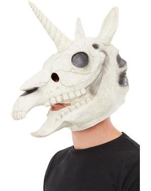 Enhörningsskalle Latexmask för vuxen